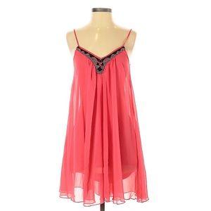 Express Beaded Embellished Swing Skater Mini Dress